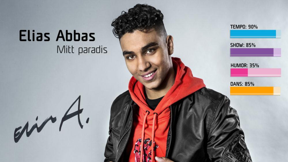 Bidragsbibeln: Elias Abbas med Mitt paradis i Melodifestivalen2018