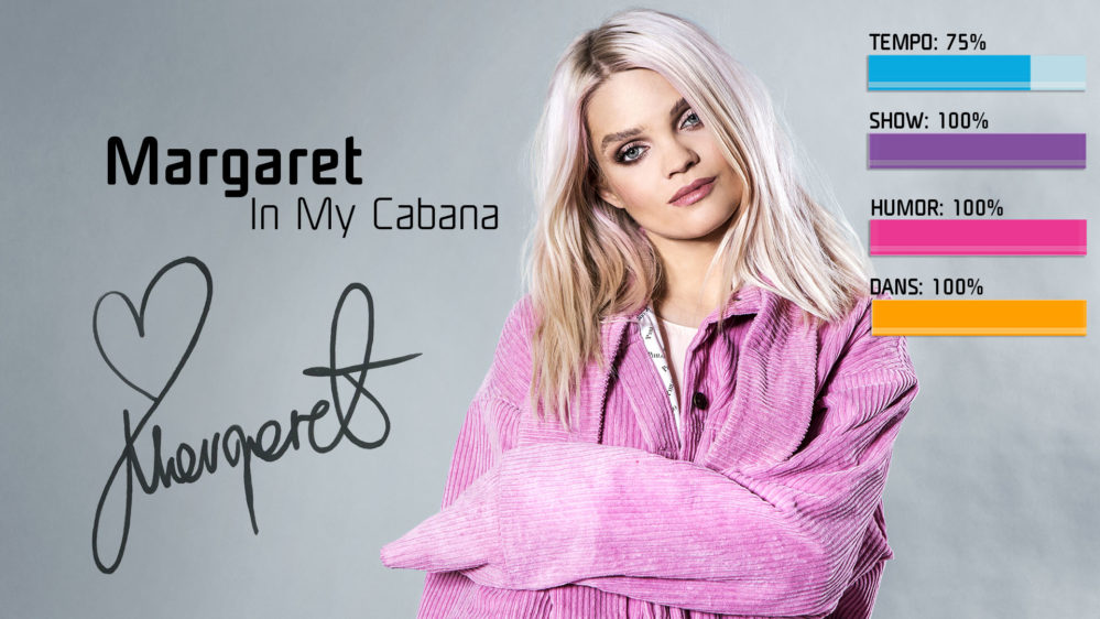 Bidragsbibeln: Margaret med In My Cabana i Melodifestivalen 2018