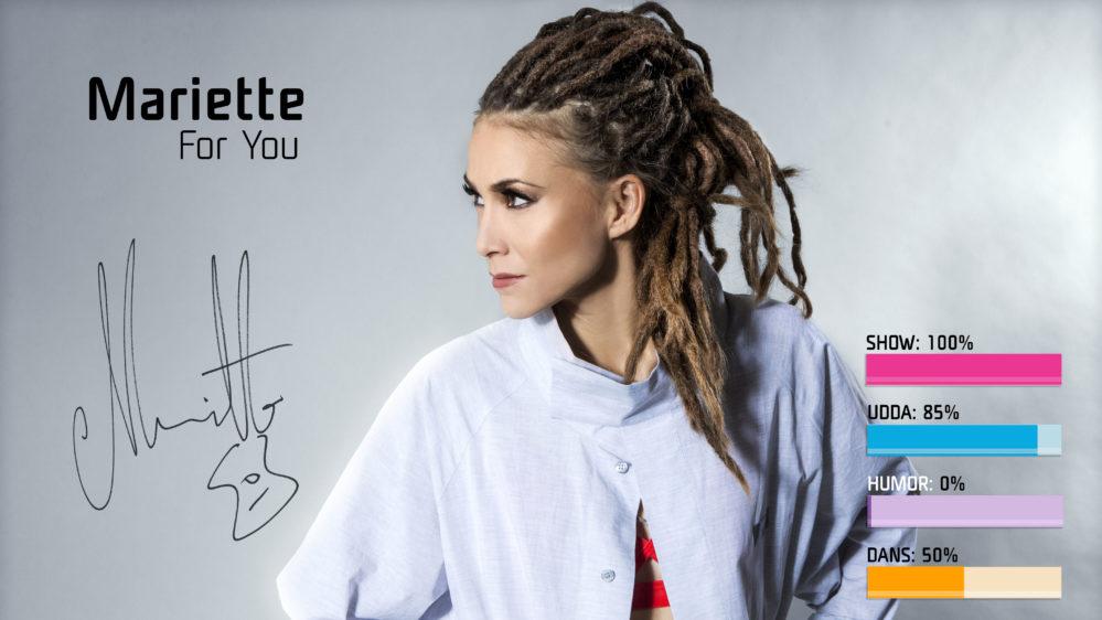 "Mariette med udda magi ""For You"" i Melodifestivalen2018"