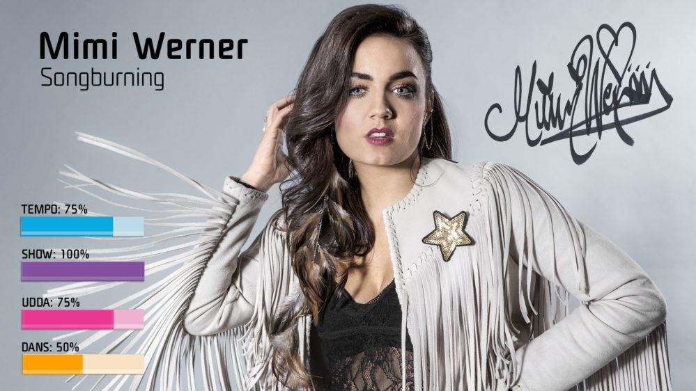 Bidragsbibeln: Mimi Werner med Songburning i Melodifestivalen2018