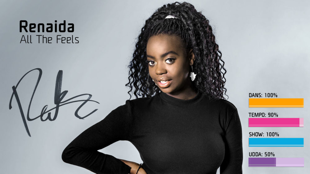 "Bidragsbibeln: Renaida med ""All the Feels"" i Melodifestivalen 2018"
