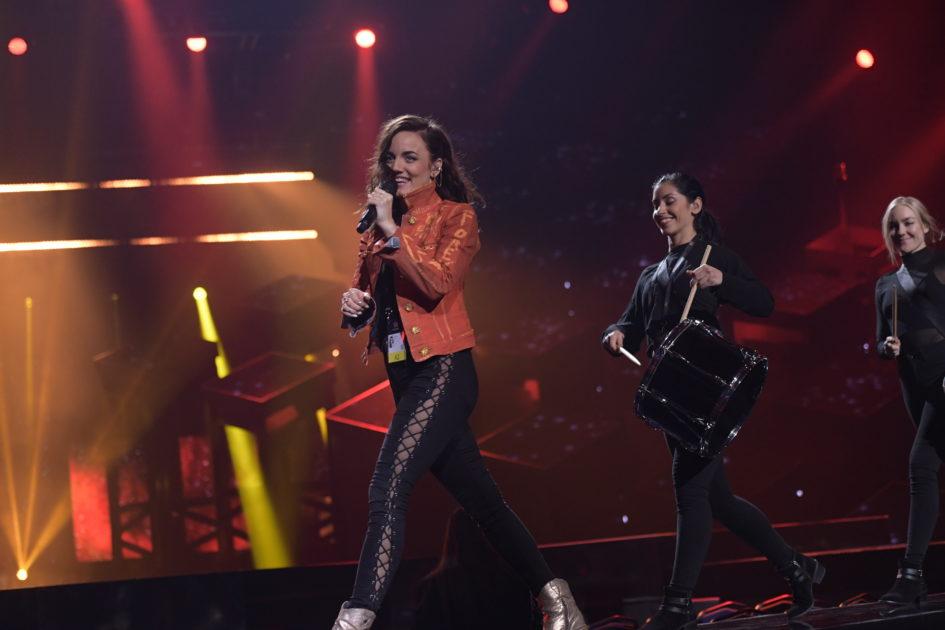 Tricket bakom trumshowen för Mimi Werner i Melodifestivalen2018