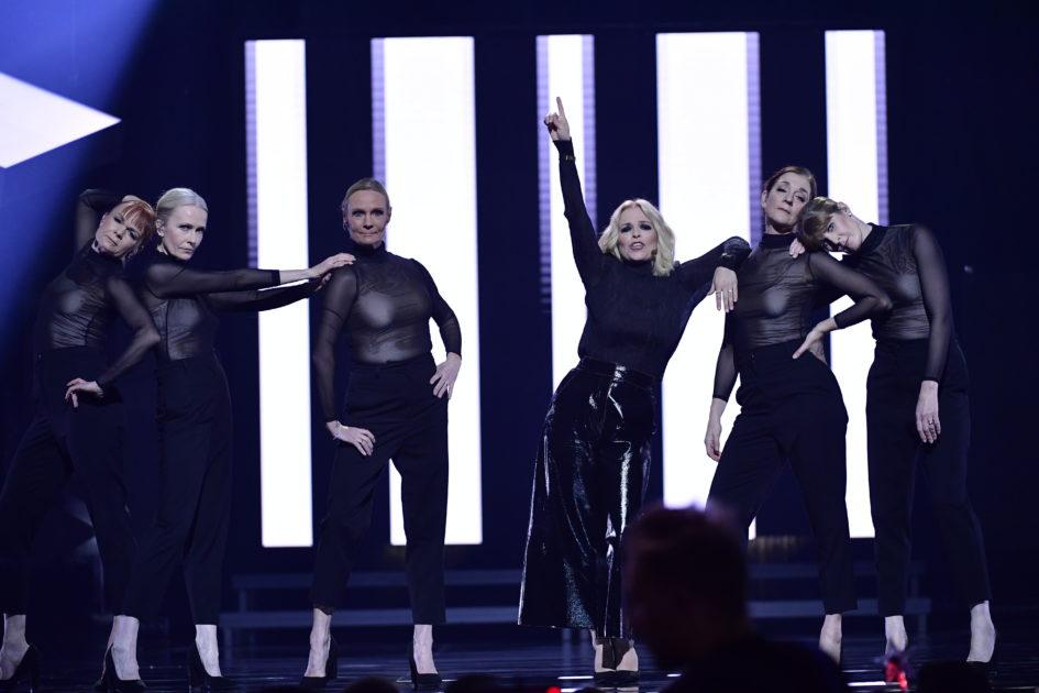 "Mellanakten: Petra Marklund tolkar ""Tuff brud"" i Melodifestivalen 2018 i Göteborg"