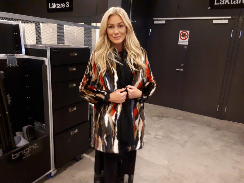 Jessica Andersson byter kläder till finalen av Melodifestivalen2018