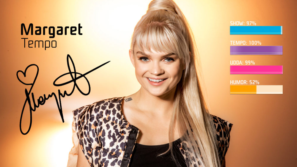 """Bidragsbibeln: Margaret med """"Tempo"""" i Melodifestivalen 2019"""
