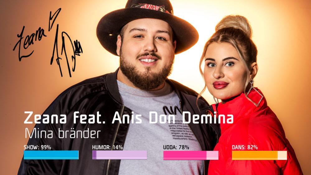 "Bidragsbibeln: Zeana feat. Anis Don Demina med ""Mina bränder"" i Melodifestivalen 2019"
