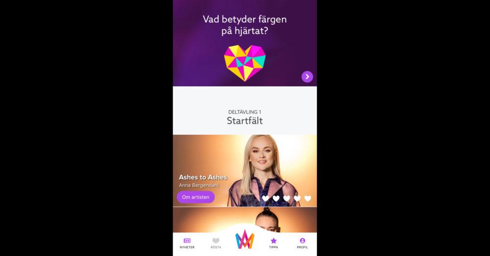 Appen är här: Nu kan du hämta Melodifestivalen 2019-versionen