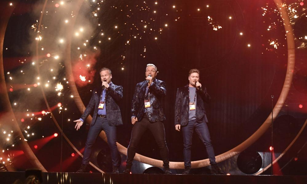 Arvingarna bedyrar sin kärlek i Melodifestivalen