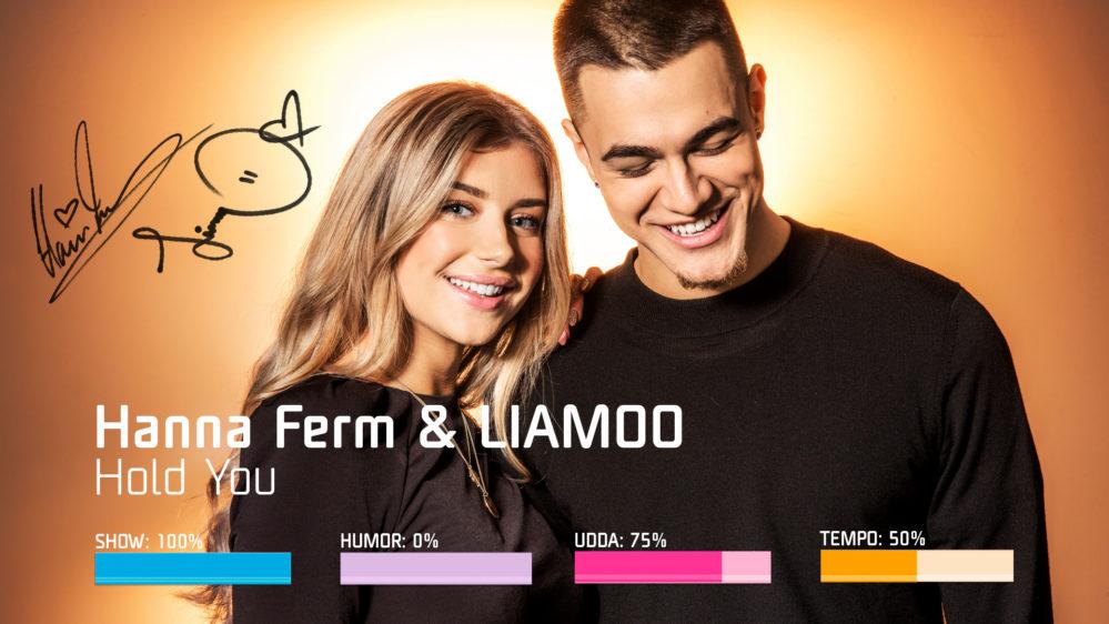 "Bidragsbibeln: Hanna Ferm & LIAMOO med ""Hold You"" i Melodifestivalen 2019"