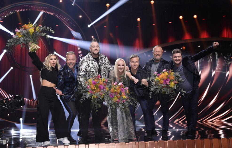 Anna Bergendahl, Nano, Lisa Ajax och Arvingarna i final i Melodifestivalen 2019