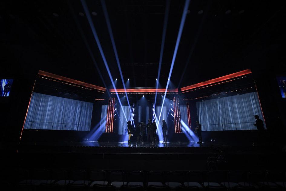 Så var artisternas första repetitioner på scen i Melodifestivalen2020