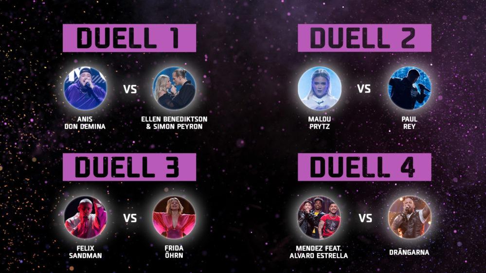 Så blir duellerna i Andra chansen i Melodifestivalen2020