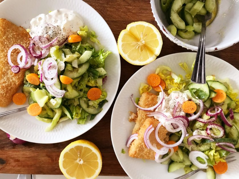 panerad fisk & remouladsås