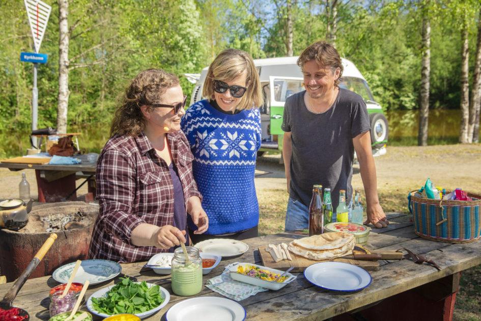 umeälvens strand med Annika norlin
