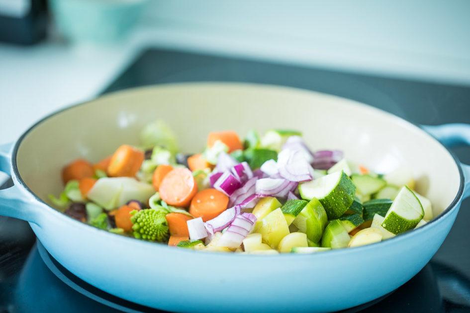 grönsakspytt & hommos